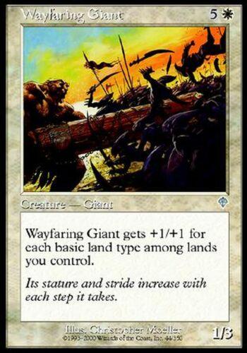 Wayfaring Giant Fine Played X4 Invasion MTG Magic Cards White Uncommon