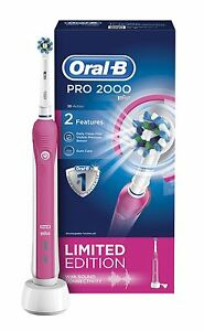 aebb5d15710d2 Image is loading Oral-B-Pro-2000-Electric-Rechargeable-Toothbrush-Powered-