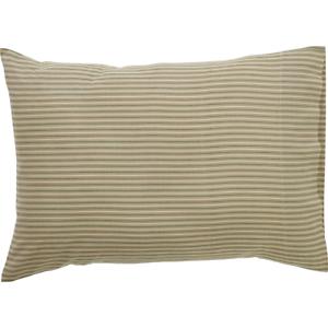 PRAIRIE-WINDS-Green-Ticking-Stripe-Standard-Pillow-Case-Set-Farmhouse-VHC-21x30