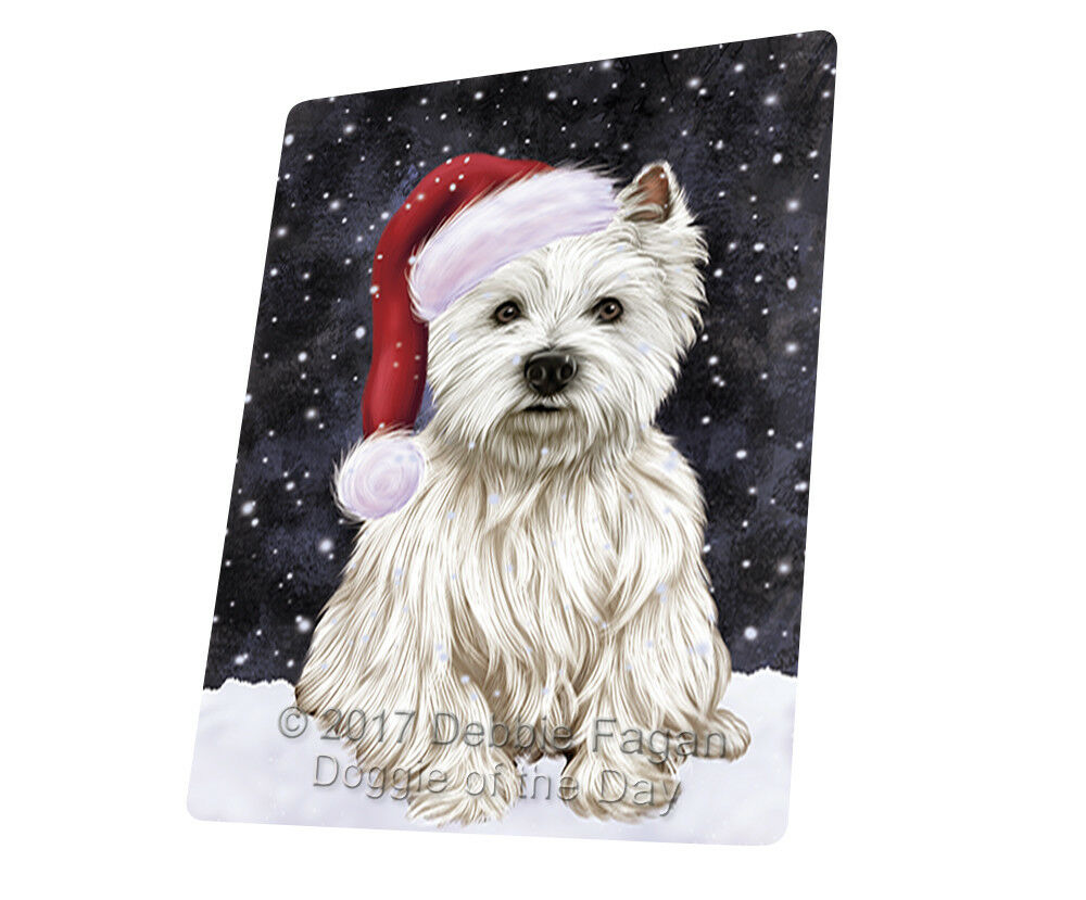 Let it Snow Christmas West Highland Terriers Dog Woven Throw Sherpa Blanket T139