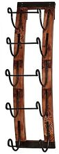 Wine Rack Wall Wood 5-Bottle Hanging Holder Storage Mount Display Decor NEW