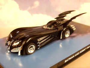 Superbe-Eaglemoss-Batman-Automobilia-1-43-Miniature-Batmobile-de-Batman-et-Robin