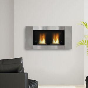 Luxury-Gel-Alcohol-Bio-Ethanol-Fireplace-Indoor-Burner-2-Burners-Silver
