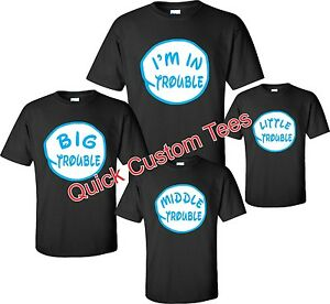 FAMILY T-shirts FUNNY TROUBLES FAMILY nice cute Dr Seuss new kids ...
