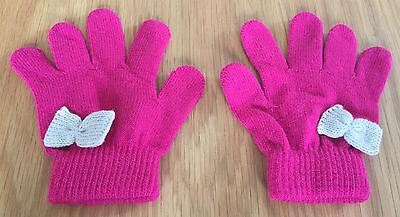 Girls Rosa Magic Gloves Con Fiocchi Crema-mostra Il Titolo Originale Acquista Ora