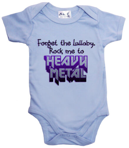 "Rock Me to Heavy Metal/"" Bodysuit Baby Music Dirty Fingers /""Forget the Lullaby"