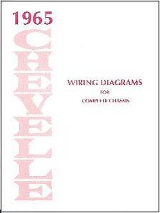 1965 65 CHEVELLE/EL CAMINO WIRING DIAGRAM MANUAL | eBay