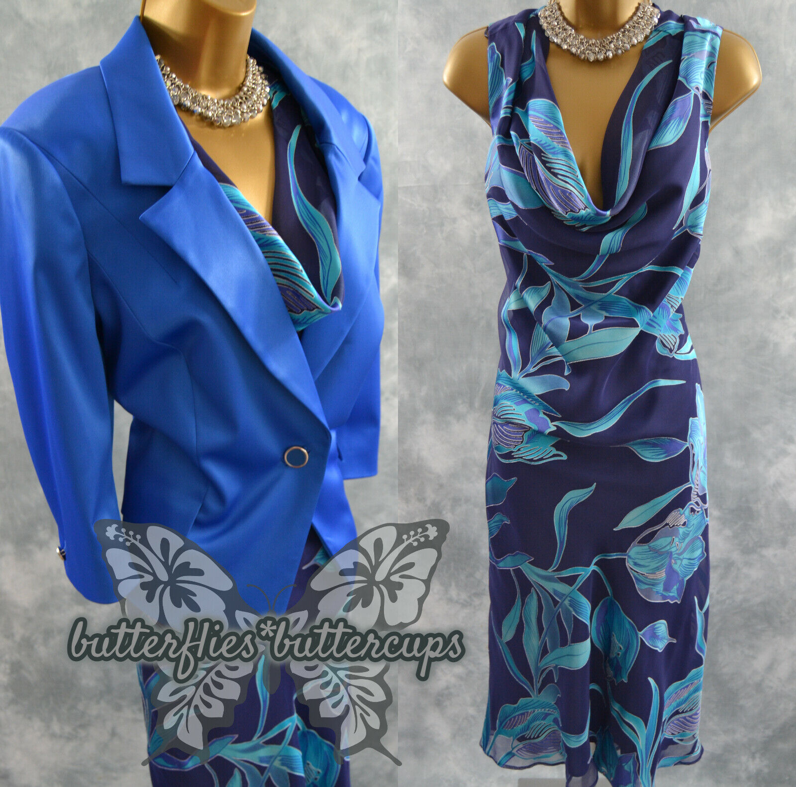 ~ JACQUES VERT & PLANET ~ Size 18 Dress and Jacket Suit Mother of the Bride