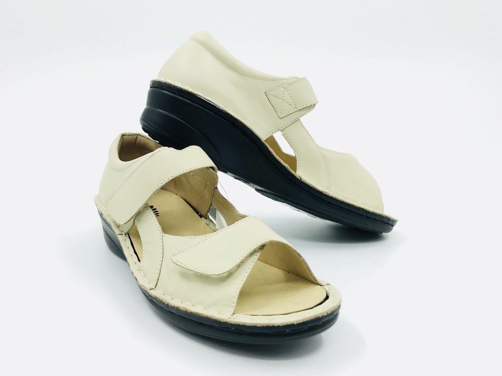 Spring Step entregarse Beige Cuero Sandalia para mujer Talla 39 8.5