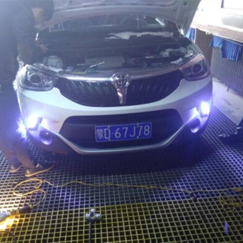 2 Pcs 12V Blade Shape HID White LED Vehicle Daytime Running Lights Fog Lamps DRL