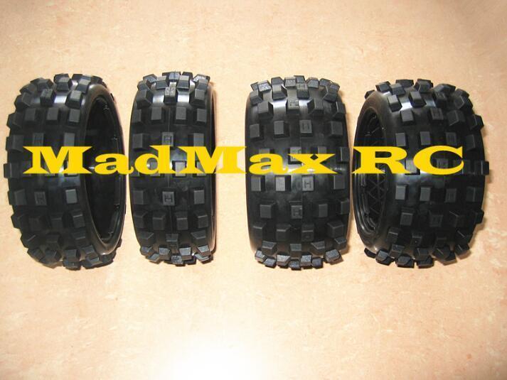 Dados Neumático Neumático 4 un. 2 Delanteros + 2 trasero para HPI Baja 5b 5B ss 1 5 rc gas