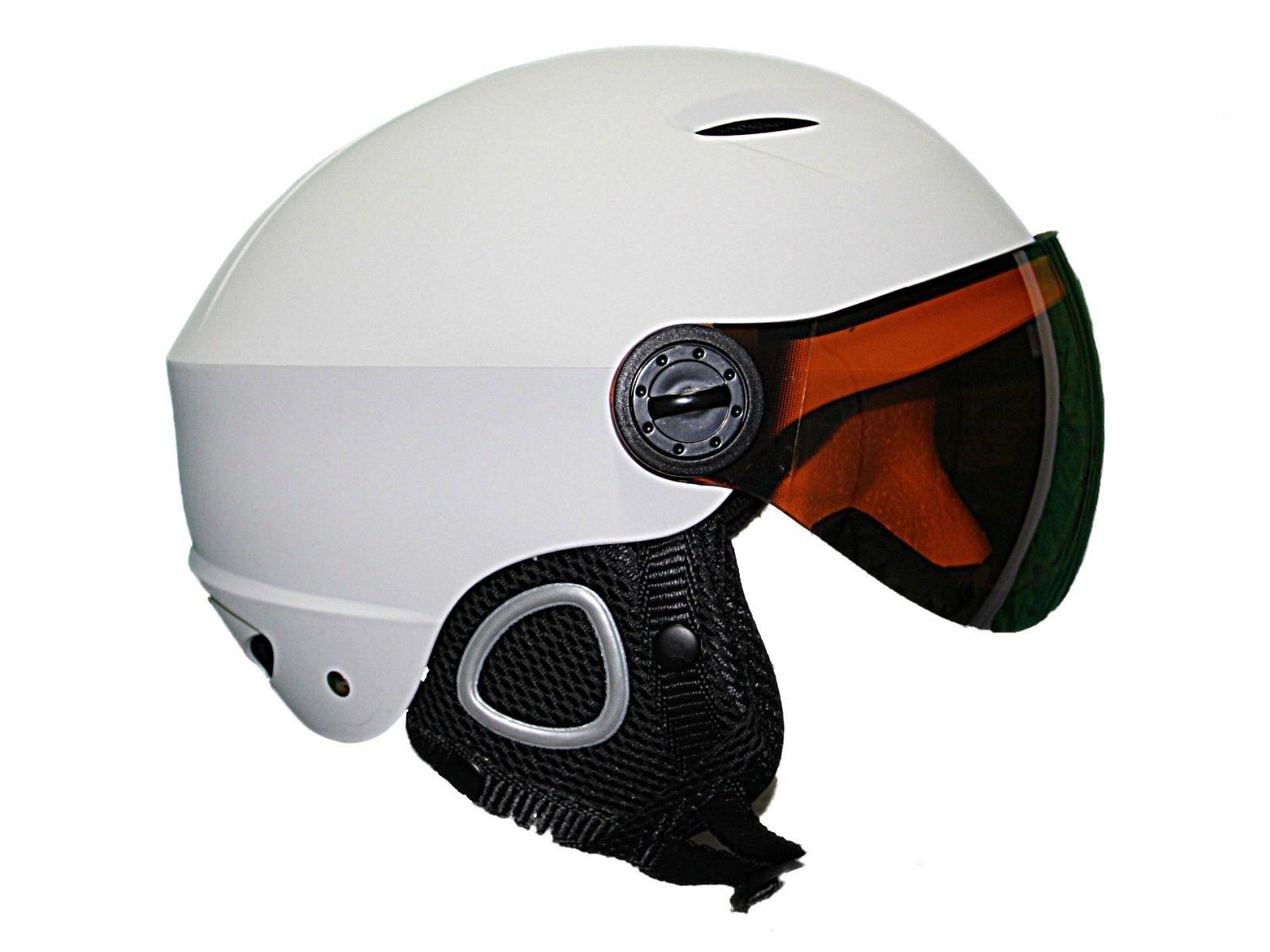 Ski snowboard helmet visor  winter sports Helmet  Integrated lens visor white  best service