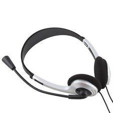 Stereo-Kopfhörer-Kopfhörer mit Mikrofon für PC Laptop-Computer Universal-New