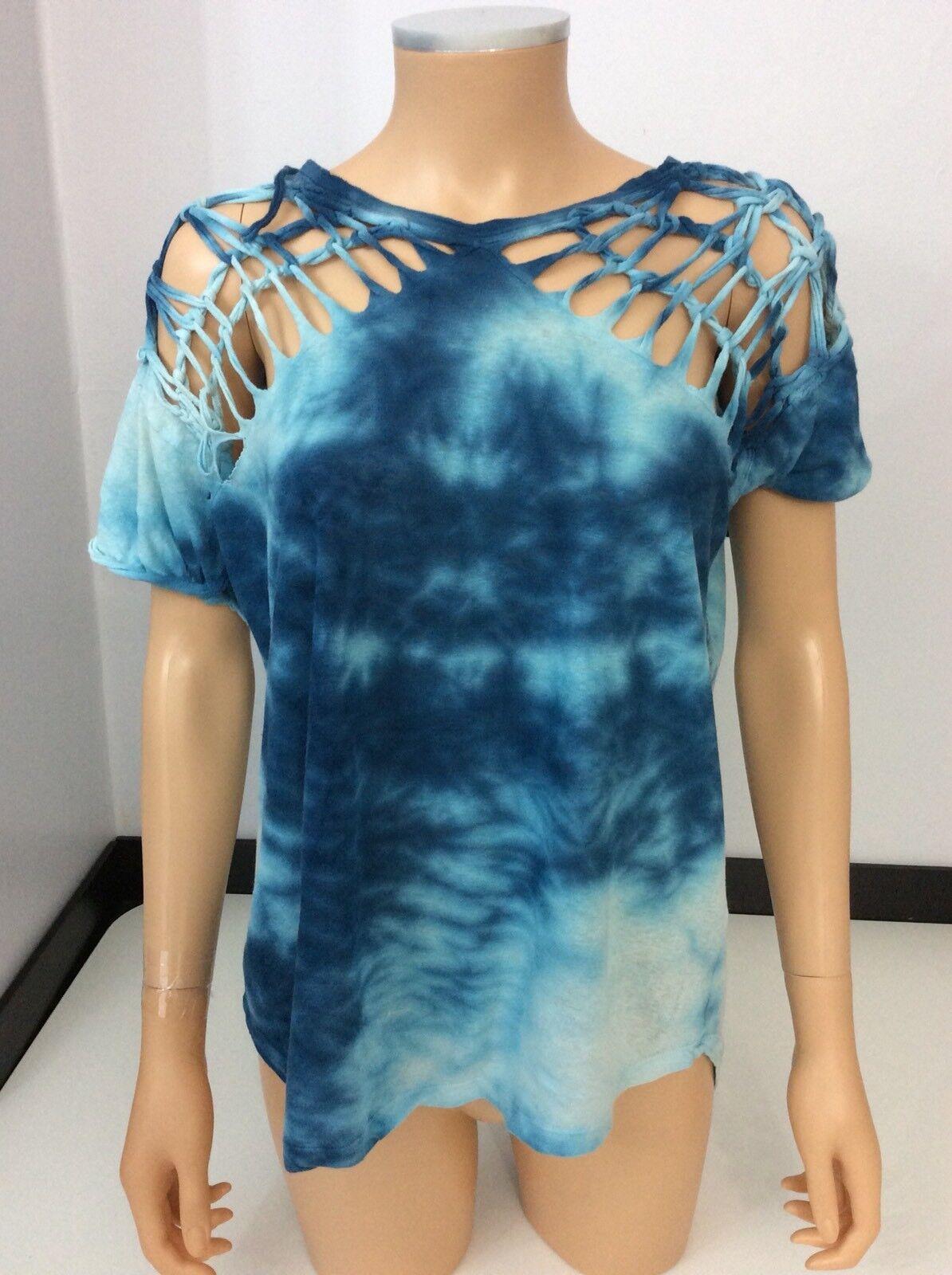 Isabel Marant Blau Tie Dye Blau Short Sleeve Top Größe 38 Vgc