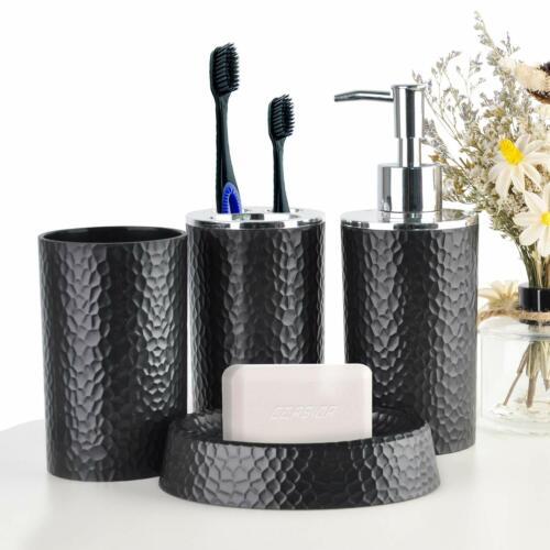 Bathroom Accessories Set 4 Pcs Plastic Gift Set Toothbrush Holder Various