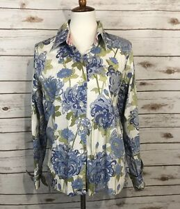 9ba0fdd84e5 Tablots Women's Floral Button Up Shirt Top Blouse sz 14 | eBay