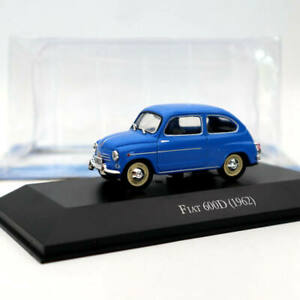IXO-Altaya-Fiat-600D-1962-Blue-Diecast-Models-Limited-Edition-Collection-1-43