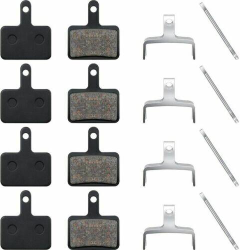 B01S B01 INCL SPLIT PIN 4 Pairs of Resin Brake Pads Fits for Shimano Deore