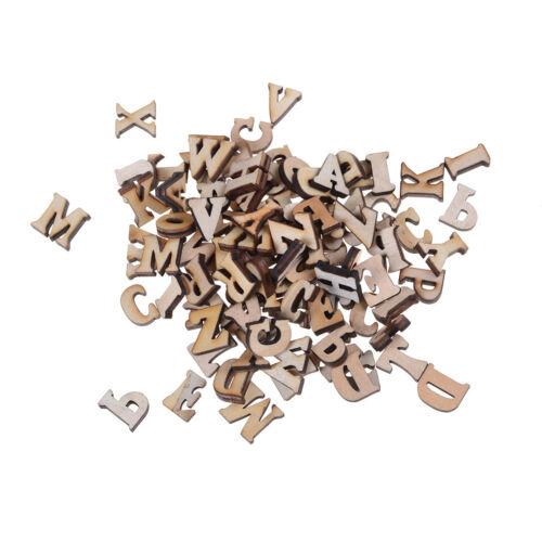 100X Letters Wooden Alphabet Embellishment Scrapbooking Cardmaking Craft gift BR