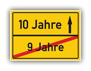 Geschenkidee-zum-10-Geburtstag-Ortsschild-Deko-Bild-Glueckwunsch-Geschenk-Karte