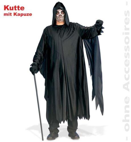 Darkman L XXL schwarze Kutte Sensemann Halloween Fasching Kostüm 1211800G13