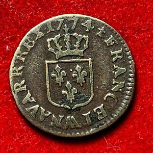 2677-RARE-Louis-XV-Liard-a-la-vieille-tete-1774-AA-Metz-TTB-FACTURE