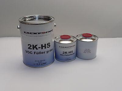 3,5 Liter Set 2K High Solid Füller neu Lackpoint Tuning VW,Audi,Opel Autolack