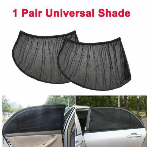 2x Car Rear Side Window Mesh Sun Visor Shade Cover Shield UV Protector  New