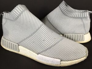 low priced 4e790 94eb7 Details about Adidas NMD CS1 City Sock Grey White Mens Size 11.5 Rare  S32191 Boost PK