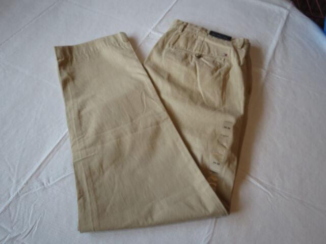 Men's Tommy Hilfiger pants 36 W 34 L slimmest fit 7847074 Safari pt 934 Universi