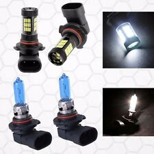 Combo 9005-100W-Halogen 9006-Samsung-LED 57 SMD White Headlight Light Bulb