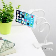 White Flexible Arm Long Lazy Mobile Phone Holder Stand Bed Desk Table Car (NEW)