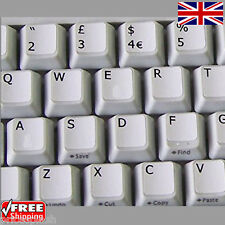 English UK White Keyboard Stickers with Black Letters for Laptop Computer PC