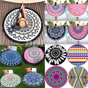 Indian-Round-Mandala-Tapestry-Wall-Hanging-Throw-Towel-Boho-Beach-Yoga-Mat-Decor