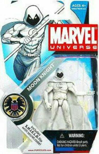 """MARVEL UNIVERSE Moon Knight série 1 4/"""" action figure #027 2008 très difficile à trouver"""