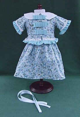Marie Grace AMERICAN GIRL DOLL Blue Floral SKIRT SET OUTFIT REPRO w RIBBONS