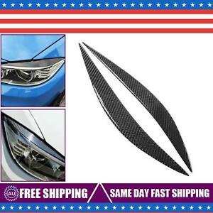 FOR-2014-18-BMW-F80-M3-F82-F83-M4-CARBON-FIBER-HEADLIGHT-EYE-LID-COVER-EYEBROWS