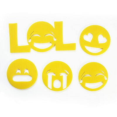 Emoji Wall Art Acrylic Emoticon Funny Emoji Faces Decals Bedroom