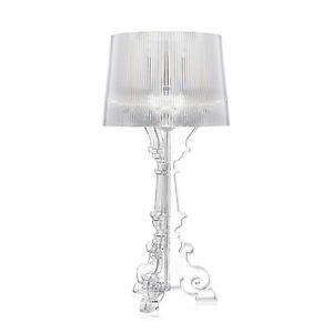 KARTELL BOURGIE lampada da tavolo barocca TRASPARENTE 09070B ...