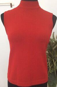 Euc laine mélangée sans P St manchescol JohnPull Top tortueTaille en rouge de Yyvb76fg