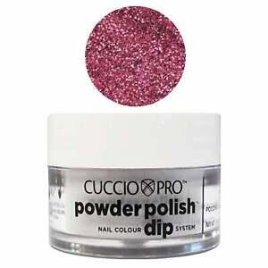 Cuccio-Pro-Powder-Polish-Dipping-Powder-Deep-Pink-With-Pink-Glitter-14g-Or-45g