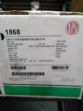 US MOTORS 1879 140F CONDENSER FAN MOTOR 3//4HP 208-230V 1075RPM 4.7AMP
