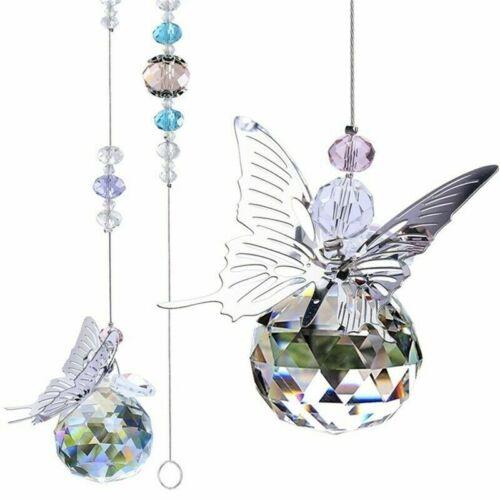 Hanging Crystal Suncatcher Rainbow Butterfly Beads Prism Pendant Window Decor