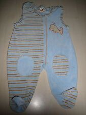 Baby, Kid´s & Co. toller Strampler Gr. 62 / 68 hellblau-orange mit Delfin !!