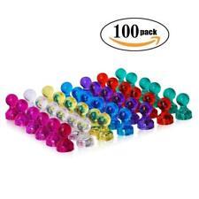 100 Pcs Magnetic Push Paper Pin Magnet Tack Holder Refrigerator Dry Erase Board