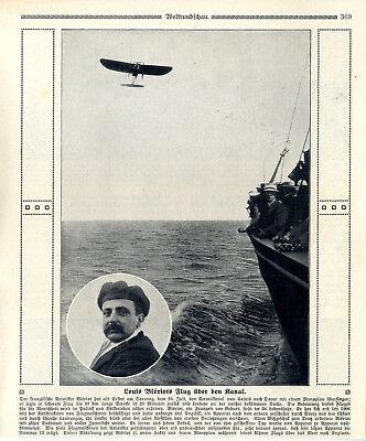 Transport Der Französische Aviatiker Blériot überflog Als Erster Mensch Den Kanal Von 1909 Exquisite Traditional Embroidery Art