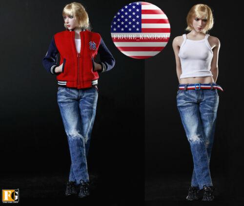 1/6 Baseball Jacket Tank Top Jeans Set For 12 PHICEN Hot Toys Female Figure USA
