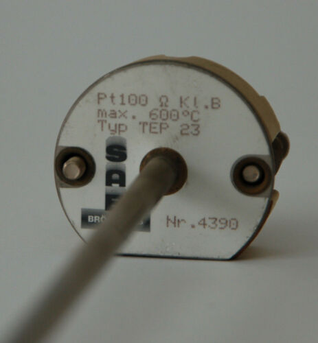 4390 max +600°C SAB Temperaturfühler Pt100 Ohm Kl.B Einsatzlänge 375 mm