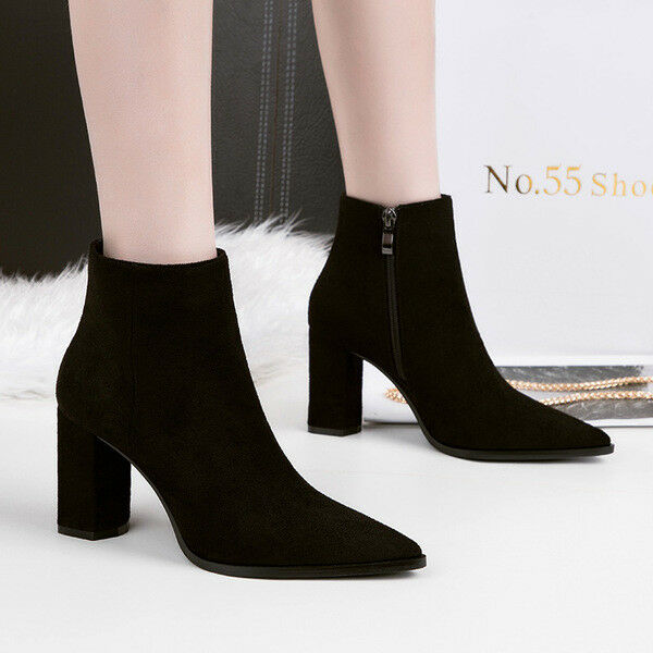 Bottes stivaletti bassi chaussures caviglia noir 10 cm pelle sintetica 9671