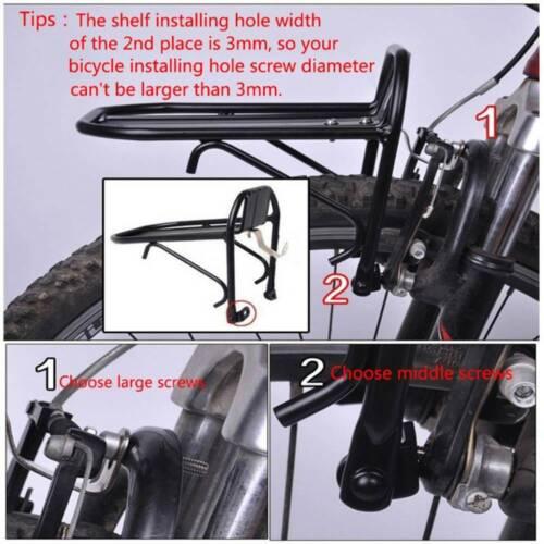 Durable Bike Metal Front Shelf Bicycle Luggage Rack Goods Carrier Pannier Black